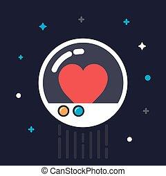 heart in capsule