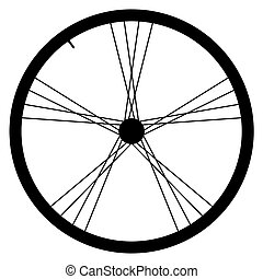 Bike wheel vector illustration on white background - image...