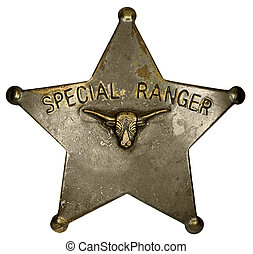 Special Ranger badge - Old-fashioned badge of the Texas SW...