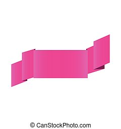 fushia shiny satin ribbon icon decorative vector...