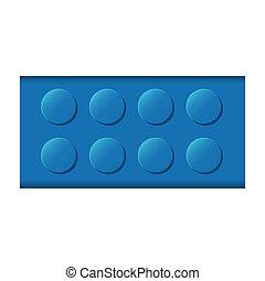 colorful lego rectangle shape block icon toy