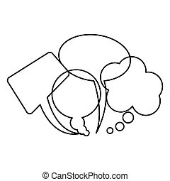 silhouette collection speech bubbles and dialog balloons