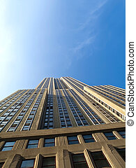 Unusual view of the Empire State Building