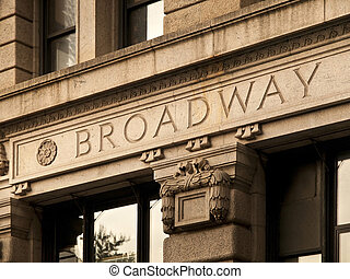 Broadway Engrave in a Manhattan Building