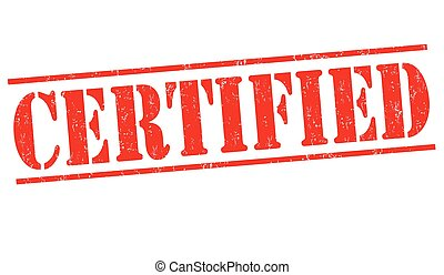 Certified sign or stamp