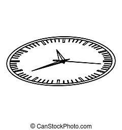 silhouette display stopwatch graphic icon flat vector...