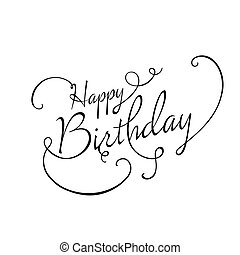 Vector Happy Birthday Greeting Card Design