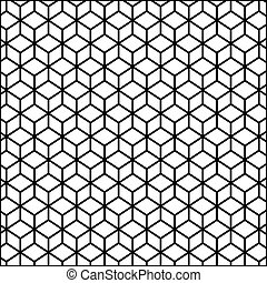 black contour line with hexagon pattern vector illustration