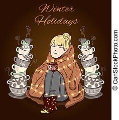 Winter Holidays VECTOR illustration