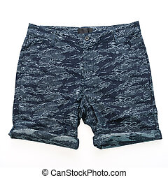 Short pants for men - Short pants clothes for men isolated...