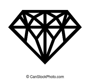 Diamond vector icon - Vector illustration of the geometry of...