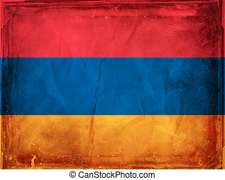 Armenia - Grunge flag series -  Armenia