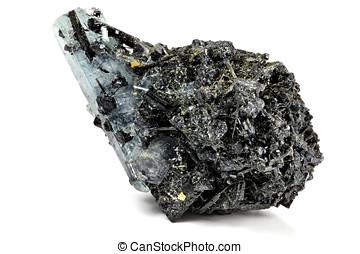 aquamarine crystal from Erongo/ Namibia nestled in matrix...