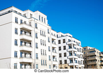 White apartment houses in Berlin - White apartment houses...