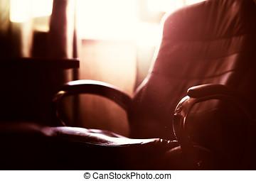 Office dusty chair bokeh background hd