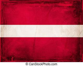 Latvia - Grunge flag series - Latvia