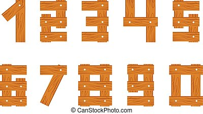 wooden numbers set
