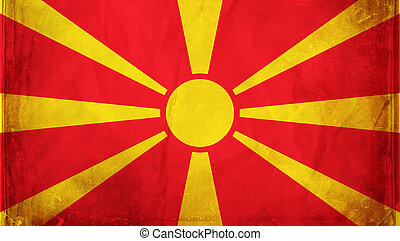 Macedonia - Grunge flag series - Macedonia