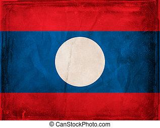 Laos - Grunge flag series - Laos