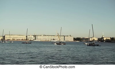 Centre of Saint-Petersburg, Russia: River Neva, State...