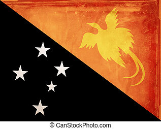 Papua New Guinea - Grunge flag series - Papua New Guinea