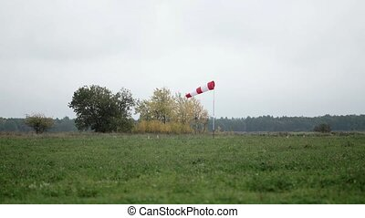Windsock in the airfield