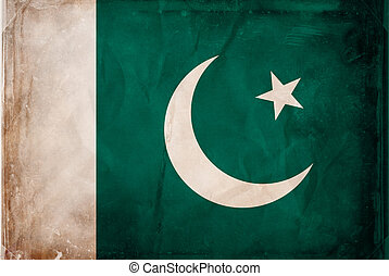 Pakistan - Grunge flag series -  Pakistan