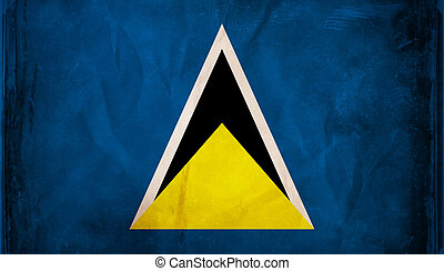 St. Lucia - Grunge flag series -  St. Lucia