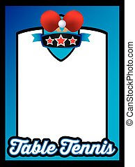 sports template poster or leaflet background table tennis