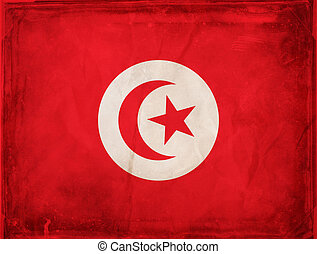 Tunisia - Grunge flag series - Tunisia