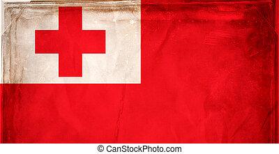 Tonga - Grunge flag series -  Tonga