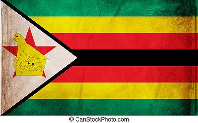 Zimbabwe - Grunge flag series - Zimbabwe
