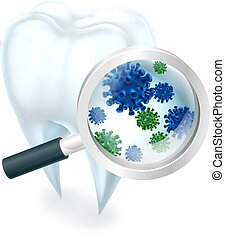 Tooth Bacteria - A medical dental illustration of a tooth...