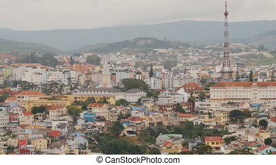 Dalat city. The city is located on the Langbian Plateau in...