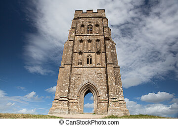 Tower - St Michaels Tower at the top of Glastonbury Tor in...