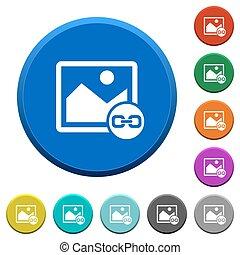 Link image beveled buttons - Link image round color beveled...