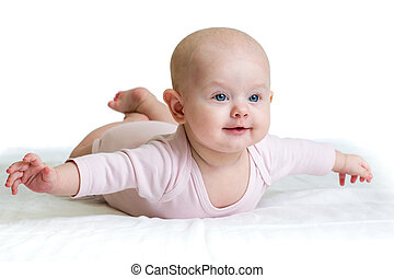 beautiful child baby on a white background