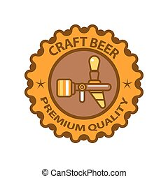 Craft beer premium quality logotype design isolated on white...