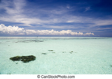Shallow Open Sea - Image of the shallow open sea in...