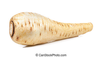 Parsnip isolated on the white background