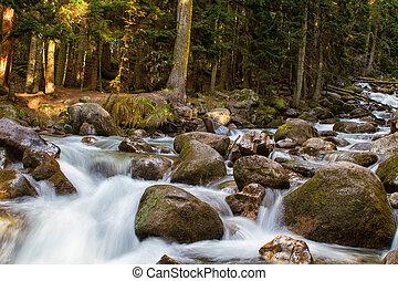 River Ullu-Murudzhu in Dombai,Karachai,Cau casus,Russia.