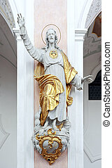 jesus - An image of the beautiful Jesus statue in bavaria...