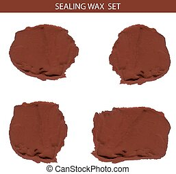 Sealing wax VECTOR set isolated on white