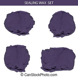 Sealing wax VECTOR set, blue - Blue sealing wax VECTOR set...