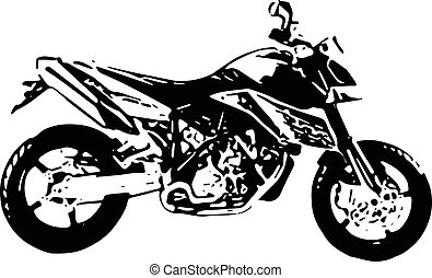 one color abstract motocross illustration - abstract...