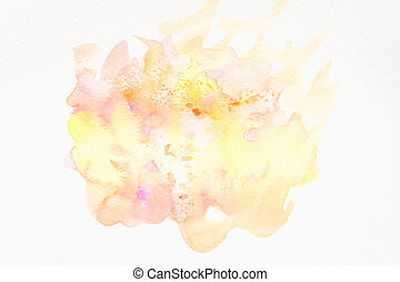 Abstract hand painted watercolor background on paper. texture for creative wallpaper or design artwork.