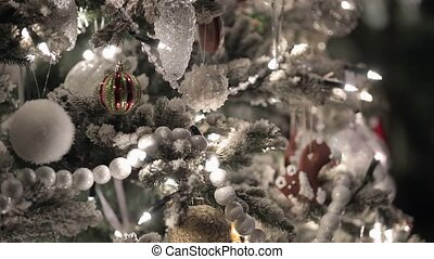 Christmass fir tree with decoration