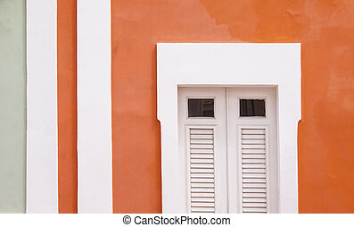 Colorful houses - Multi colored houses in Puerto Rico in the...