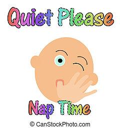 静寂, 赤ん坊, 睡眠