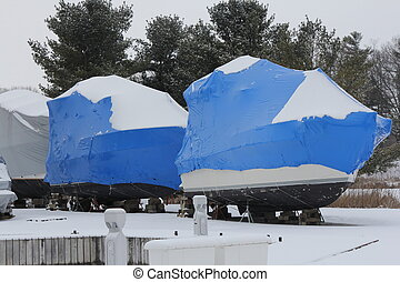 Boats-Winter Wrapped